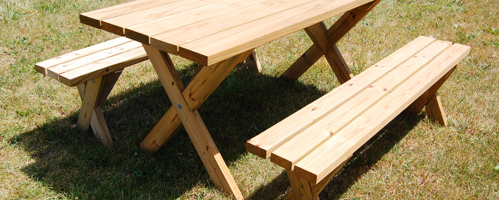 picnic table bench kit 2