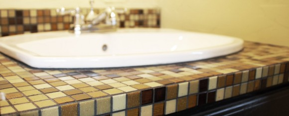 featured_tile_counter - Tile Bathroom Countertop