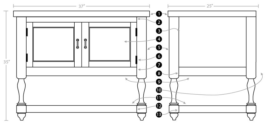 How to build a vanity cabinet