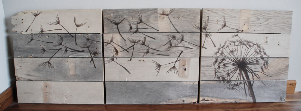 Rustic wood wall art part 3 diydiva for What kind of paint to use on kitchen cabinets for word canvas wall art